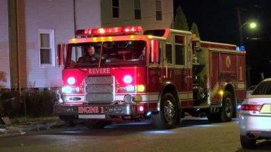 Fire Engine Ladder Truck — Stock Video