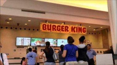 Burger King Menu Counter — Stock Video