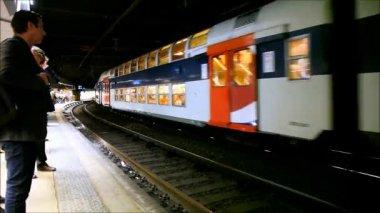 Double Decker Train — Stock Video