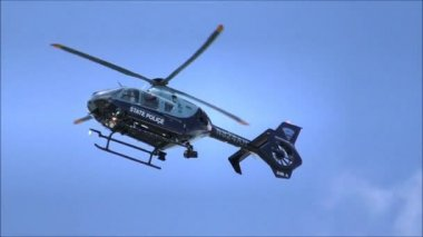 State Police Helicopter — Stock Video