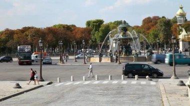 Paris Double Decker Tourist Bus — Stock Video