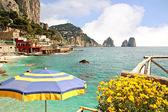 Faraglioni Rocks off the magical island of Capri in The Bay of Naples Italu — Stock Photo