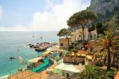 Marina Piccolo on the island of Capri in The Bay of Naples Italy — Stock Photo