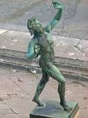 The House of the Dancing Faun in the ruined city of Pompeii in Italy — Stock Photo