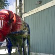 Постер, плакат: Painted buffalo staue in Jackson Hole Wyoming USA