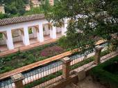 The Gardens of the Summer Palace of the Alhambra in Granada Spain — Stock Photo