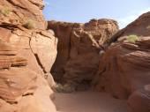 Sandstone interior of Upper Antelope Canyon, Navajo Nation Reservation, Arizona, — Stock Photo