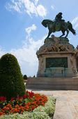 Statue von eugen von savoyen im königspalast in budapest ungarn — Stockfoto