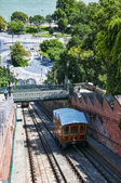 Funicular Railway up to the Royal Palace in Budapest Hungary — Foto Stock