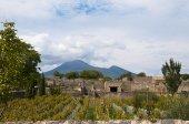 Mount Vesuvius from Pompeii in the Bay of Naples — Stock Photo