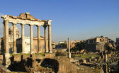 The Ancient Forum in Rome Italy — Stock Photo