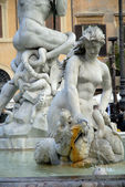 The Piazza Navona in Rome Italy — Stok fotoğraf