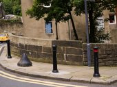 Buildings in Holmfirth Yorkshire England — Stock Photo