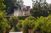 The Villa Pisani facing the Brenta canal some 30 kilometers from Venice Italy — Stock Photo