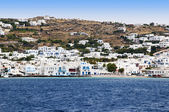Chora the main town of the island of Mykonos in the Greek Islands — Stock Photo