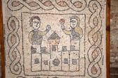 Castle in 10th century mosaics in church in Ravenna, Italy — Stock Photo