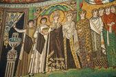 10th century Mosaic of Byzantine Empress Theodora in church in Ravenna Italy — Stock Photo