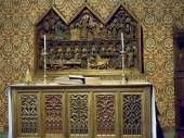 Altar in the Borgo Medievale the medieval castle that is a modern reproduction in Turin Italy — Stock Photo