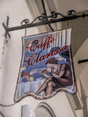 Sign for Cafe in Turin Italy — Stock Photo