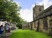All Saints Church in Ilkley which is a spa town in West Yorkshire, in the north of England. — Stock Photo