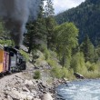 The Narrow Gauge Railway from Durango to Silverton in Colorado USA — Stock Photo #62674919