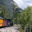 The Narrow Gauge Railway from Durango to Silverton in Colorado USA — Stock Photo #62675443
