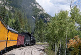 The Narrow Gauge Railway from Durango to Silverton in Colorado USA — Stock Photo