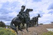 Скульптура в sante fe Нью-Мексико — Стоковое фото