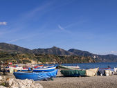The Beaches of Nerja Andalucia Spain — Foto de Stock