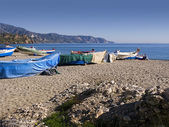 The Beaches of Nerja Andalucia Spain — Stock Photo