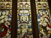 Witraże w kościele parafialnym Ilkley Yorkshire — Zdjęcie stockowe