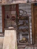 Ramshackle Buildings and galleries in Madrid New Mexico USA — Stock Photo