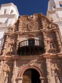 San Xavier del Bac the Spanish Catholic Mission Tucson Arizona — Stock Photo