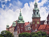 Royal Wawel Castle  and Cathedral in Krakow Poland — Stock Photo