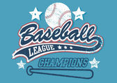 Baseball league champions — Vettoriale Stock