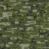 Camouflage urban disruptive block khaki seamless pattern — Stock Vector