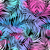 Tropical palms seamless pattern in colours — Stock Vector