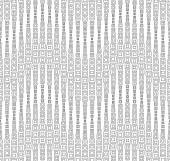 Seamless pattern on a white background. Has the shape of a wave. Consists of through geometric elements. — Stock Vector