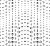 Seamless pattern on a white background. Has the shape of a wave. Consists of abstract elements having the shape of snowflakes. — Stock Vector