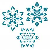 Snowflakes set for christmas winter design — Stock Vector