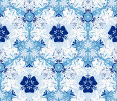 Seamless pattern composed of color abstract elements located on a white background. — Vecteur