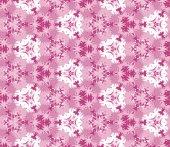 Seamless mönster består av färg abstrakta element ligger på en vit bakgrund — Stockvektor