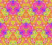 Seamless pattern composed of bright color abstract elements located on white background — Cтоковый вектор