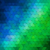 Abstract geometrical multicolored background consisting of triangular elements. For your design. — Stock Vector