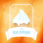 Abstract background with ice cream. Vector illustration. — Stock Vector