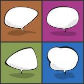 Conjunto de burbujas de discurso, ilustración vectorial — Vector de stock