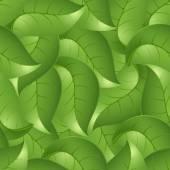 Sömlös bakgrund från blad, en vektor illustration — Stockvektor