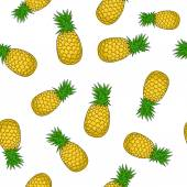 Seamless Pattern of  Pineapple — Stock Vector