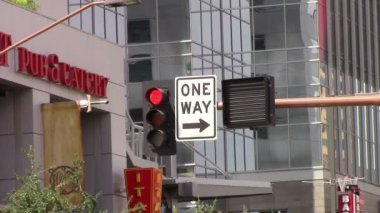 Traffic Signals Phoenix, Az downtown — Vídeo de stock