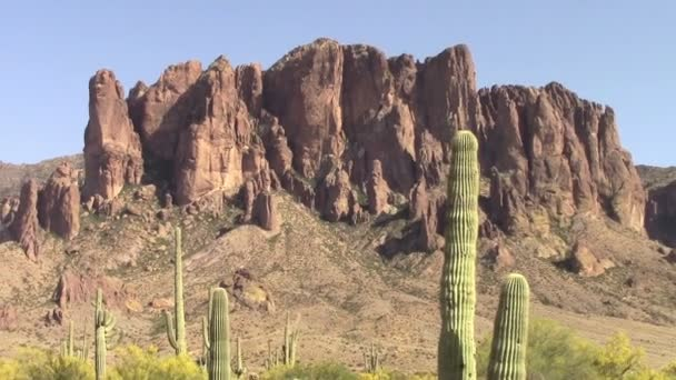 Superstition Mountains, Arizona — Vidéo